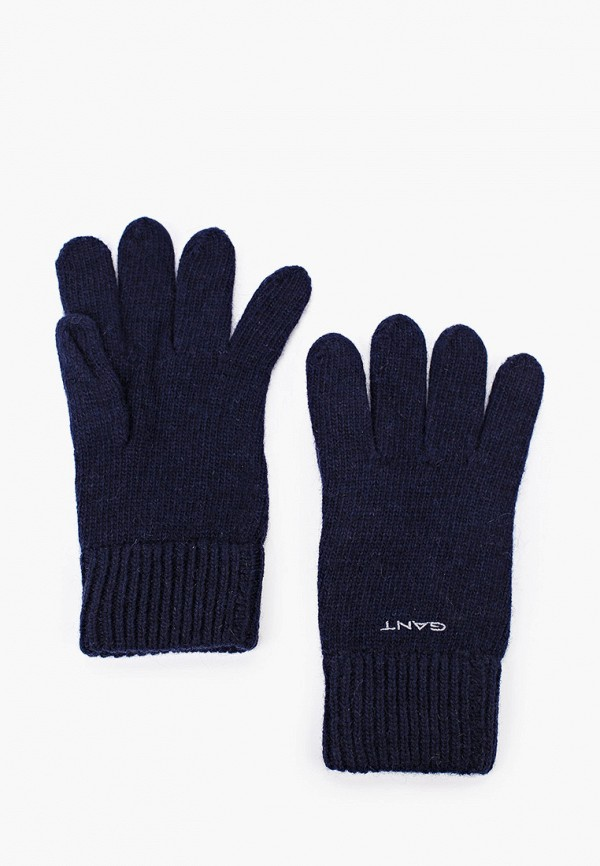 мужские перчатки gant, синие