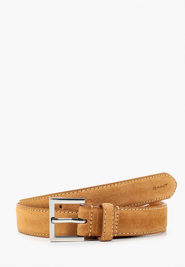 женский ремень gant, коричневый