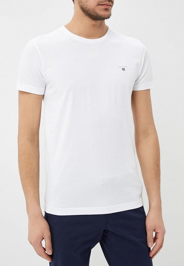 мужская футболка с коротким рукавом gant, белая