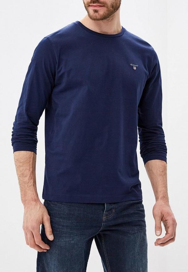 мужской лонгслив gant, синий