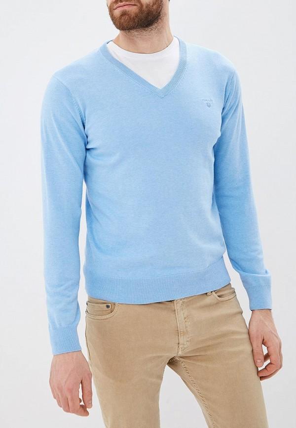 мужской пуловер gant, голубой