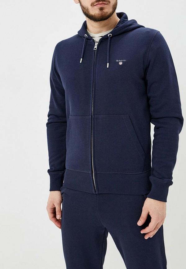 мужская толстовка gant, синяя
