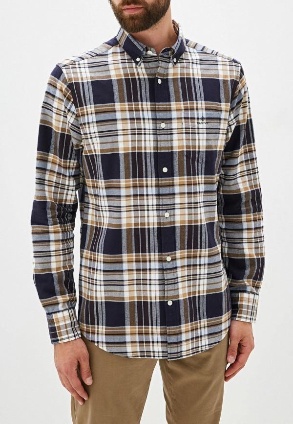 мужская рубашка с длинным рукавом gant, разноцветная
