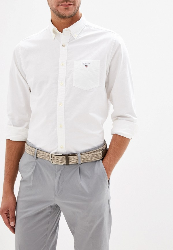 мужская рубашка gant, белая