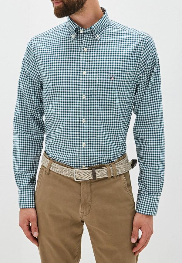 мужская рубашка с длинным рукавом gant, зеленая