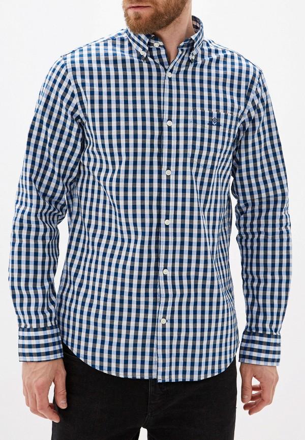 мужская рубашка gant, синяя