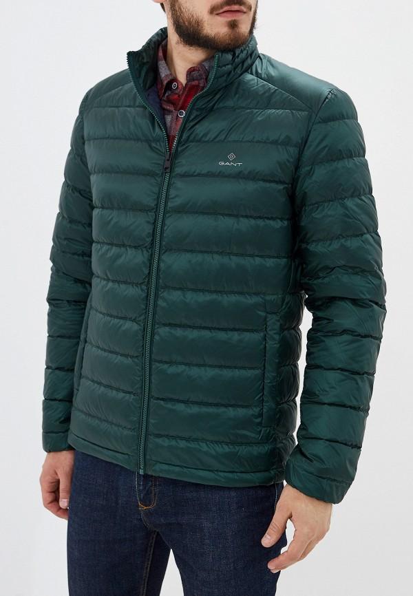 мужской пуховик gant, зеленый
