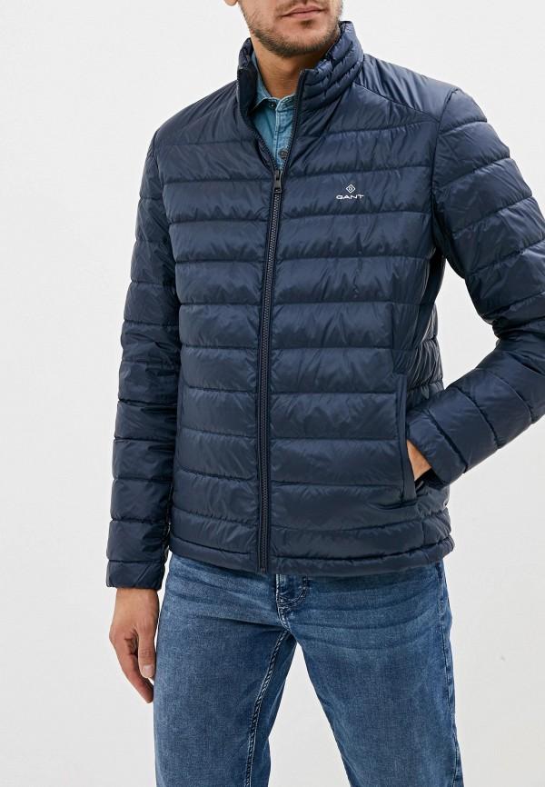 мужской пуховик gant, синий