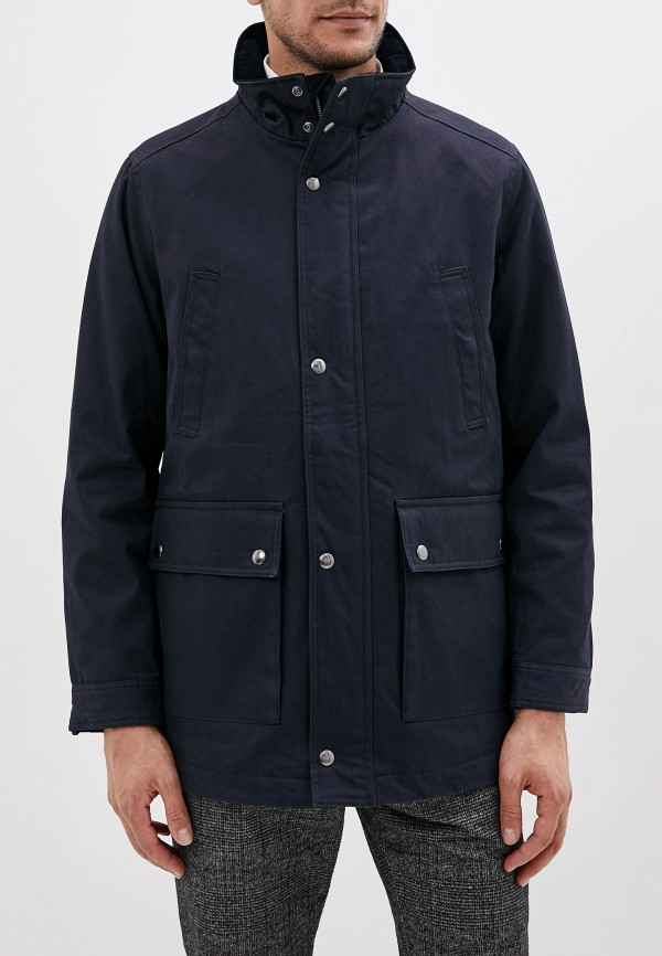 мужская утепленные куртка gant, синяя