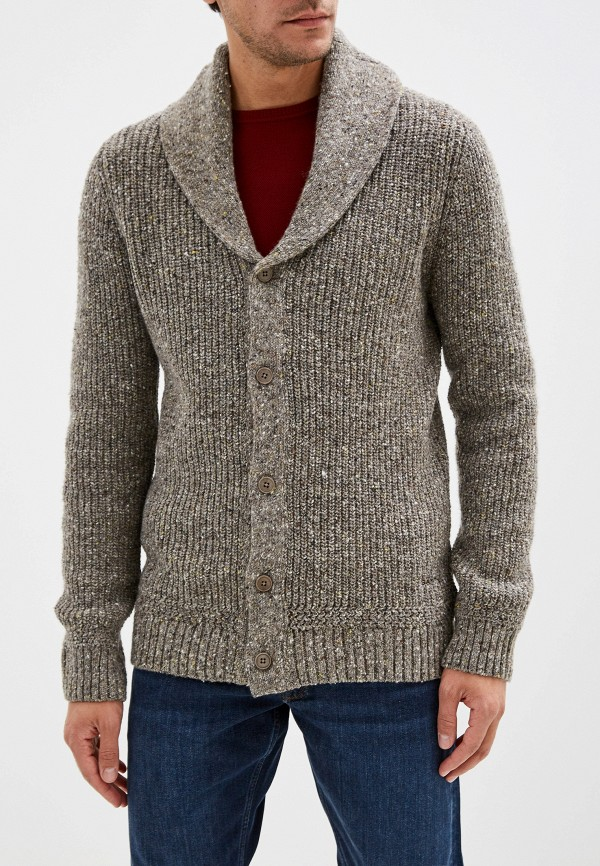 мужской кардиган gant, серый