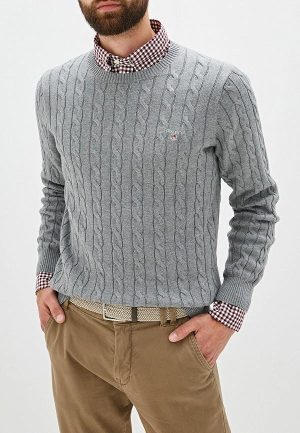 мужской джемпер gant, серый