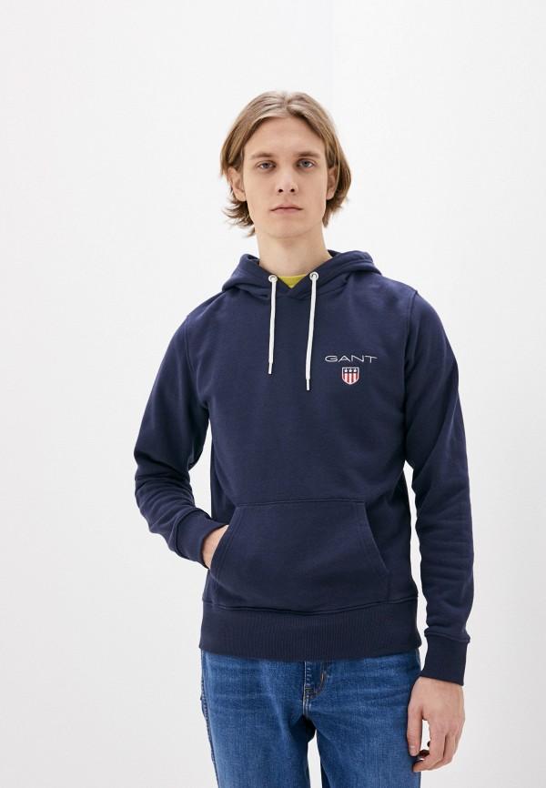 мужские худи gant, синие