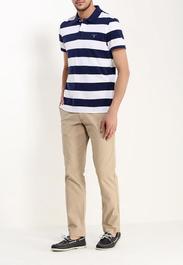Фото 2 - мужское поло Gant разноцветного цвета