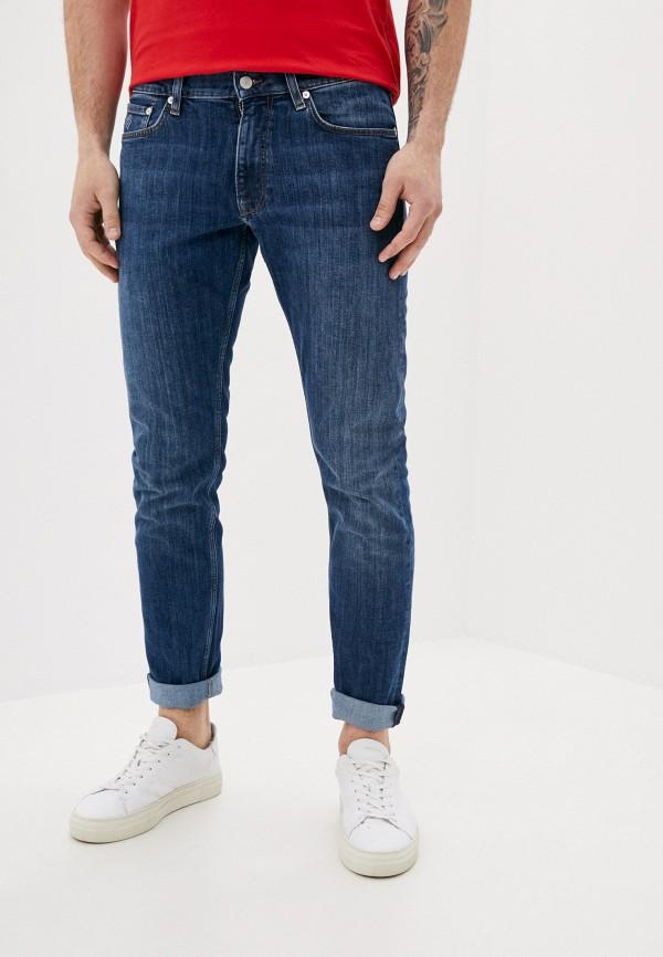 мужские зауженные джинсы gant, синие