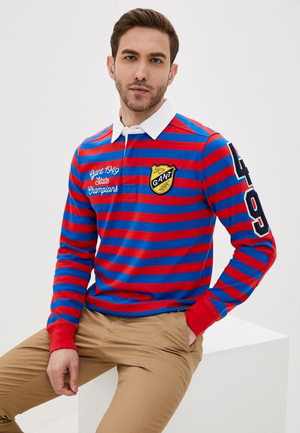 мужское поло gant, разноцветное