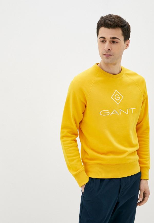 мужской свитшот gant, желтый