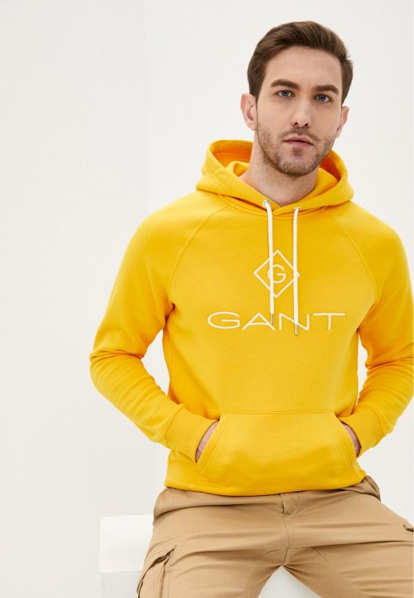 мужские худи gant, желтые