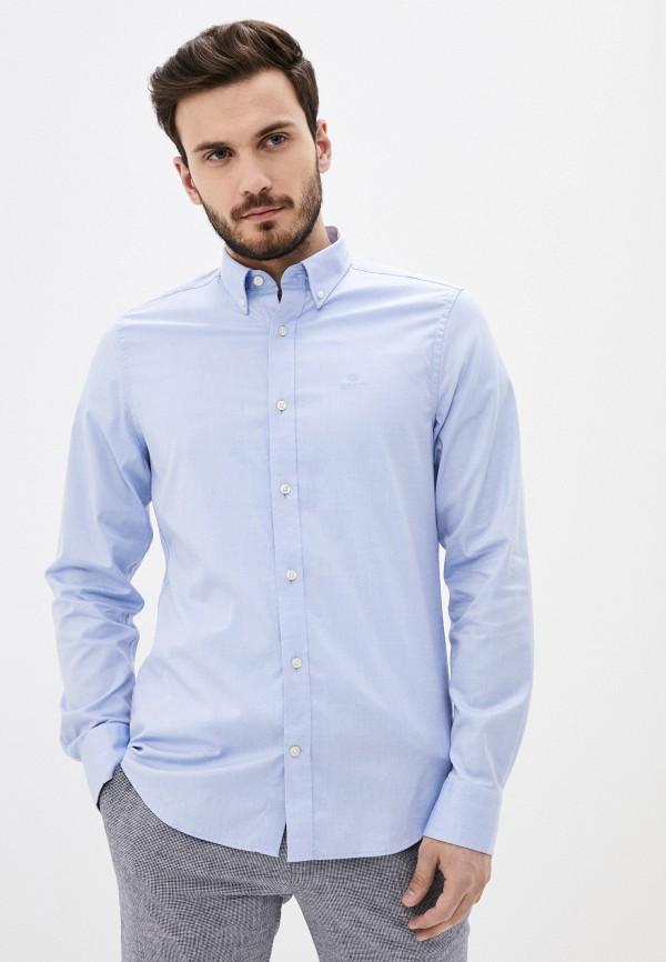 мужская рубашка gant, голубая