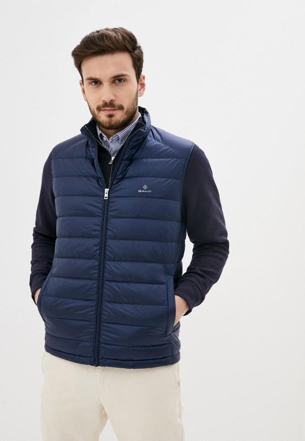 мужской жилет gant, синий