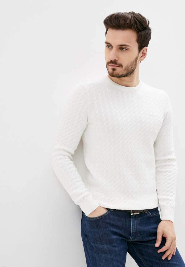 мужской джемпер gant, белый