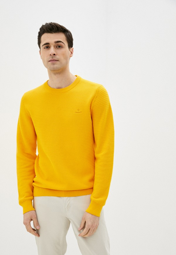 мужской джемпер gant, желтый