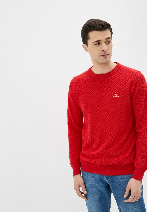 мужской джемпер gant, красный