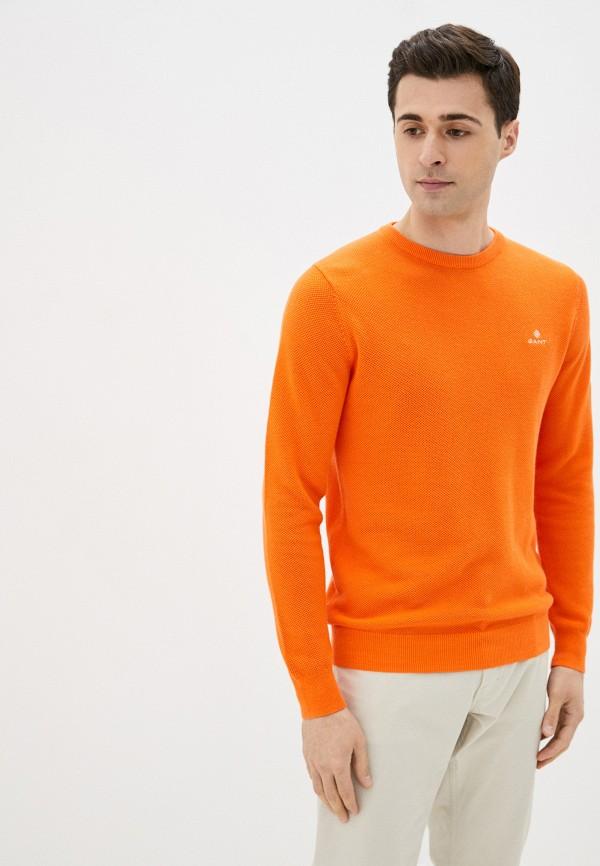 мужской джемпер gant, оранжевый