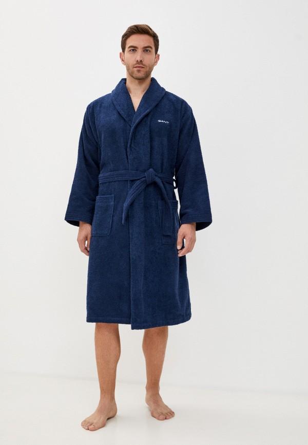 мужской халат gant, синий