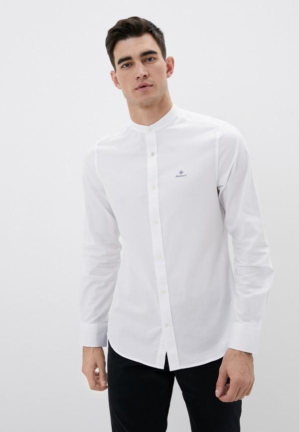 мужская рубашка с длинным рукавом gant, белая