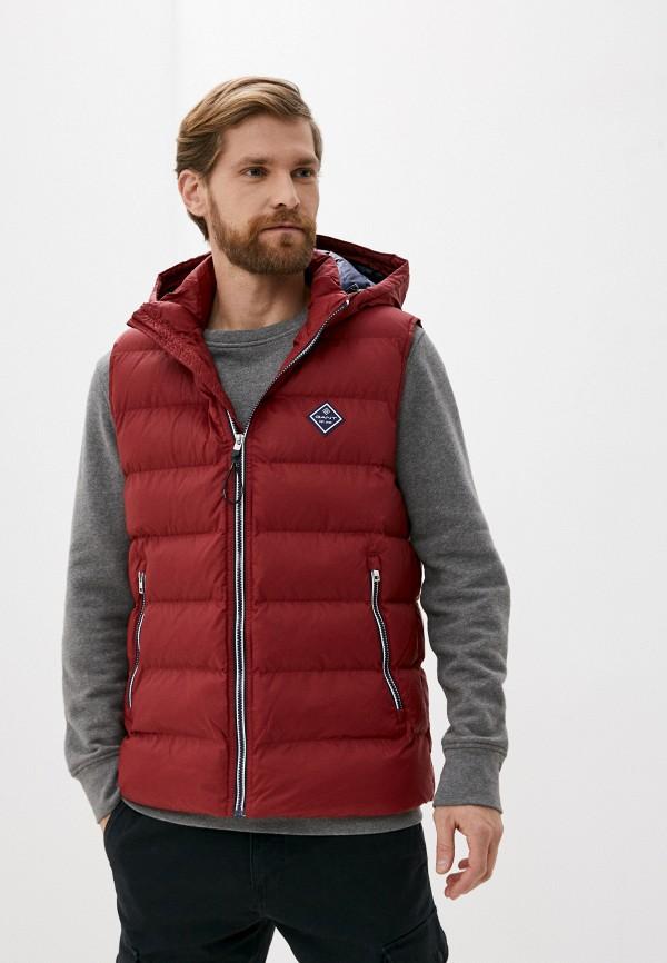 мужской жилет gant, красный