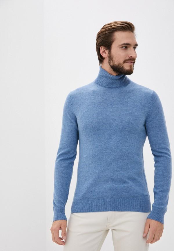 мужская водолазка gant, голубая