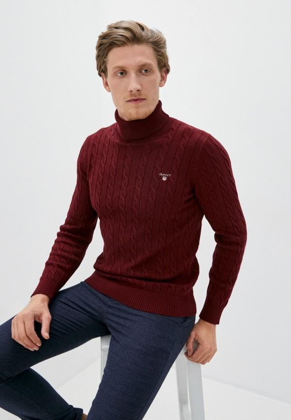мужской свитер gant, бордовый