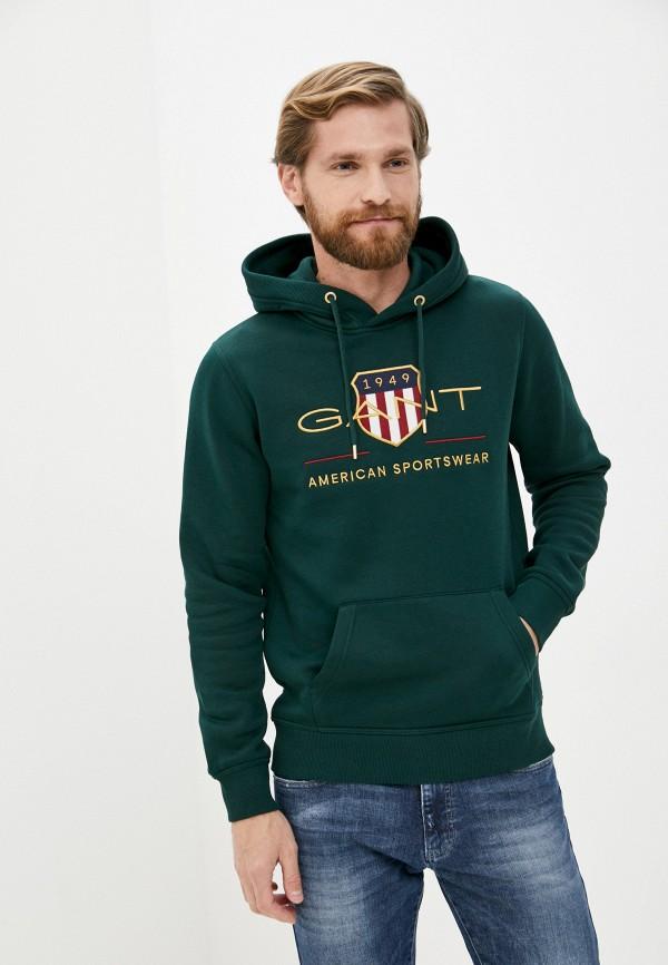 мужские худи gant, зеленые
