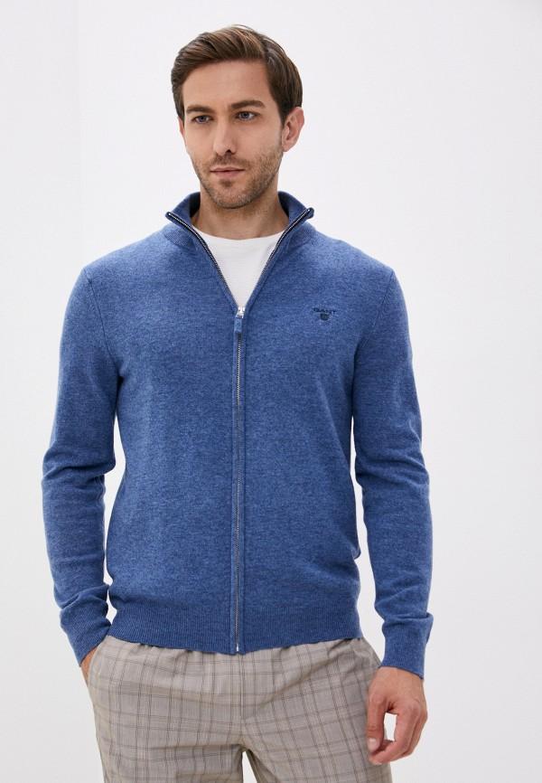 мужской кардиган gant, синий