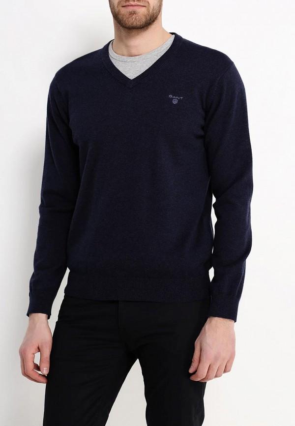 мужской пуловер gant, синий