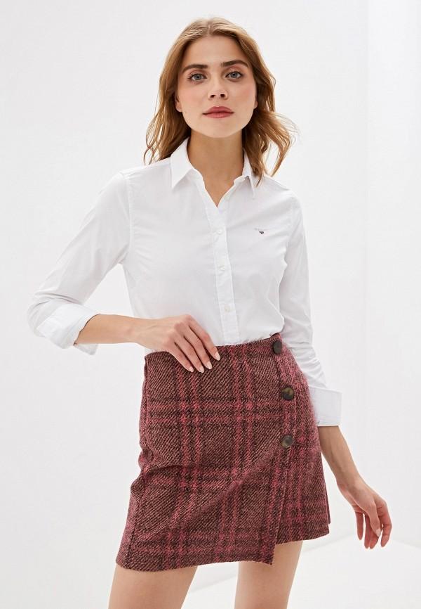 женская рубашка с длинным рукавом gant, белая