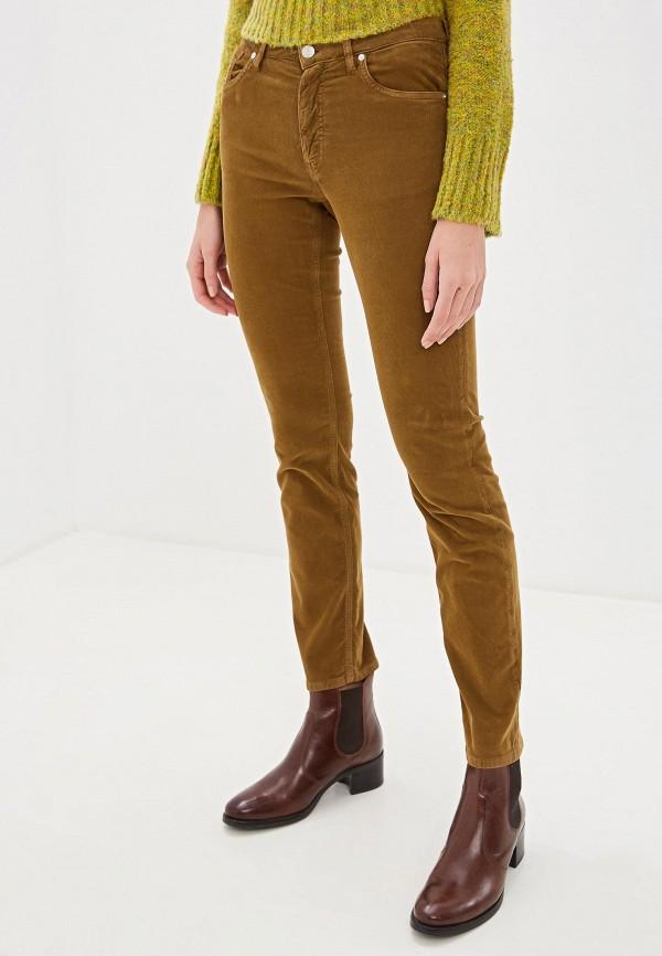 женские брюки gant, коричневые