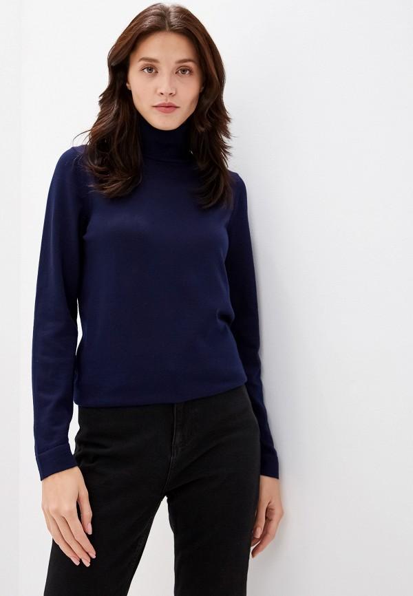 женская водолазка gant, синяя