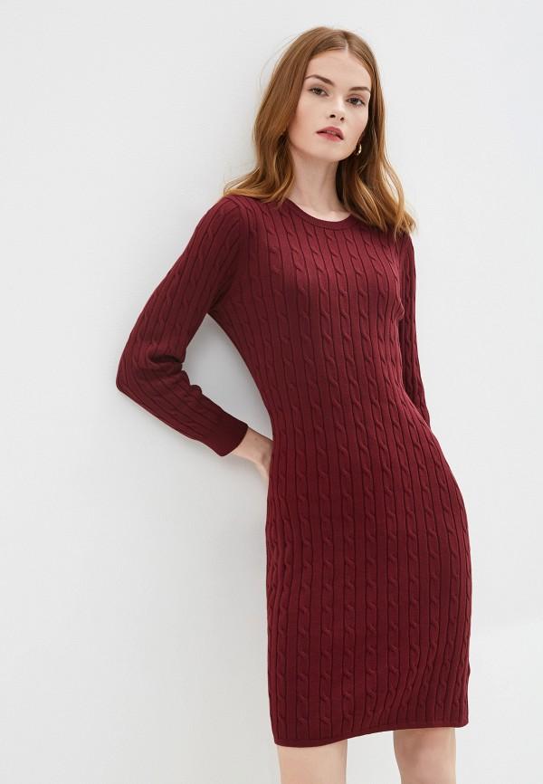 женское платье gant, бордовое