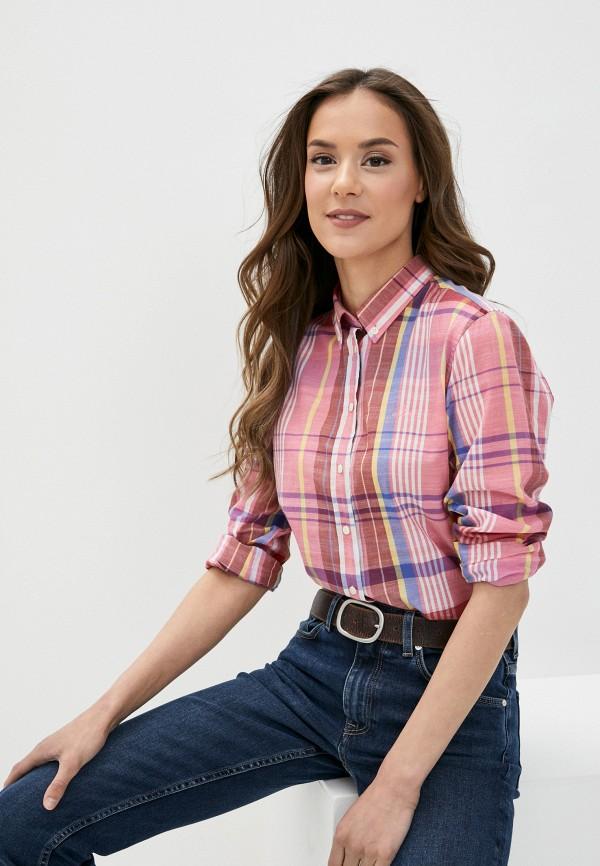 женская рубашка с длинным рукавом gant, розовая