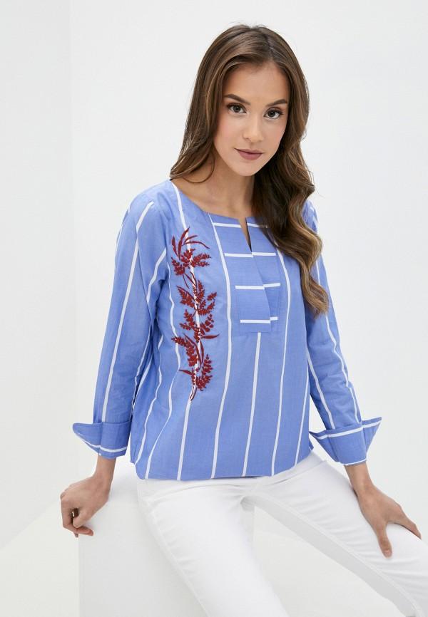 женская блузка gant, голубая