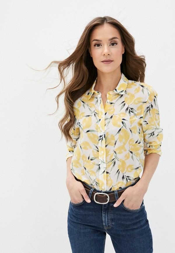 женская рубашка с длинным рукавом gant, разноцветная