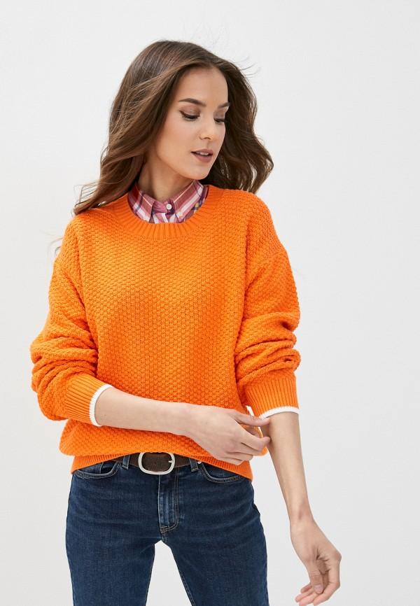женский джемпер gant, оранжевый