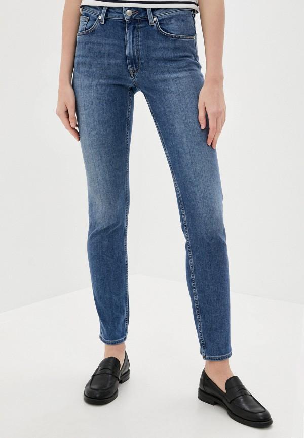 женские прямые джинсы gant, синие