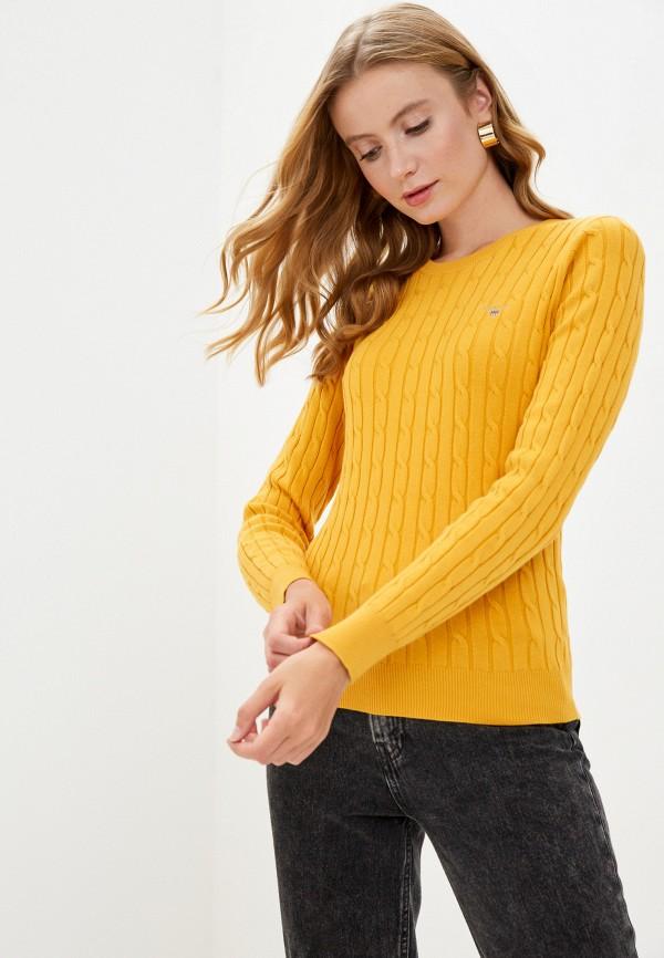 женский джемпер gant, желтый