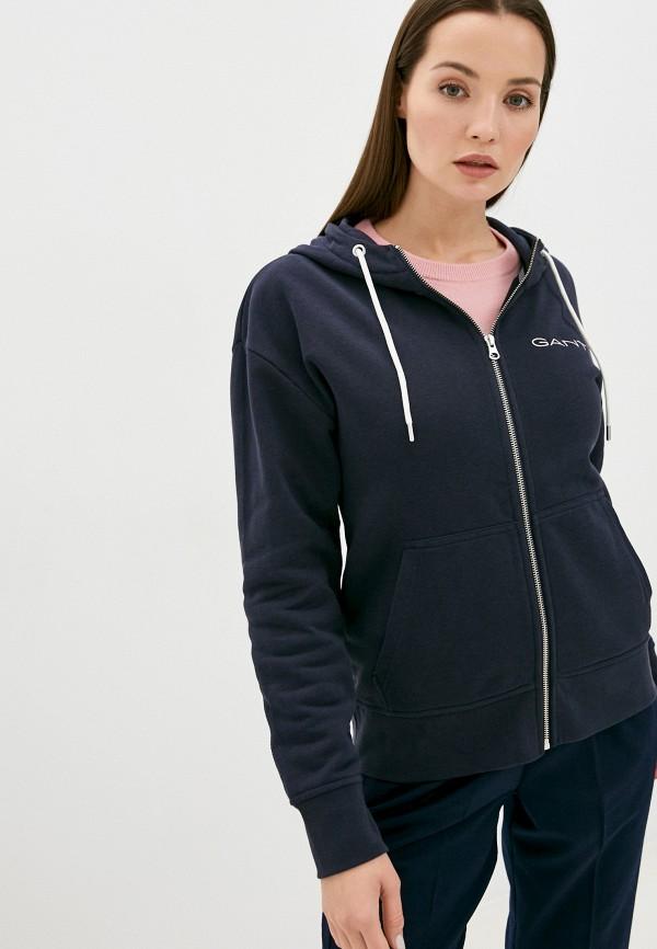 женская толстовка gant, синяя