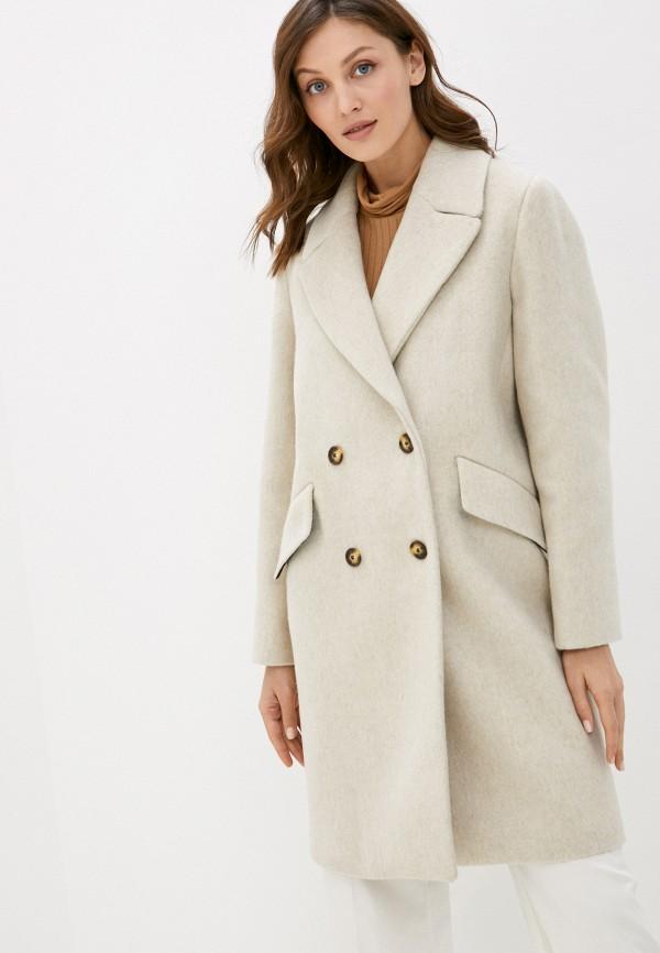 женское пальто gant, бежевое