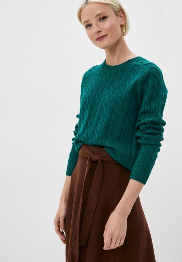женский джемпер gant, зеленый
