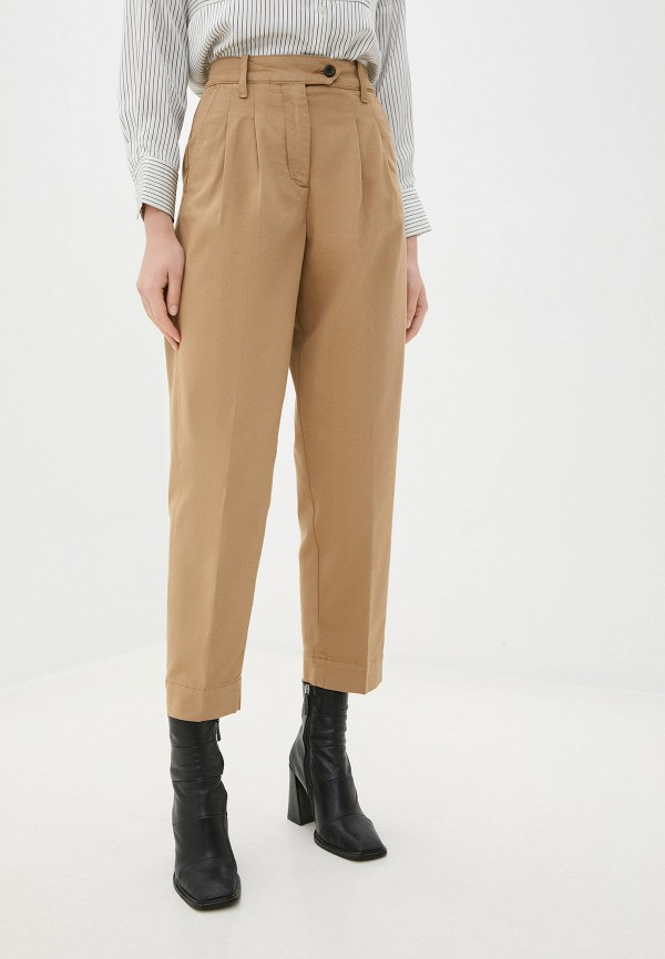 женские повседневные брюки gant, бежевые