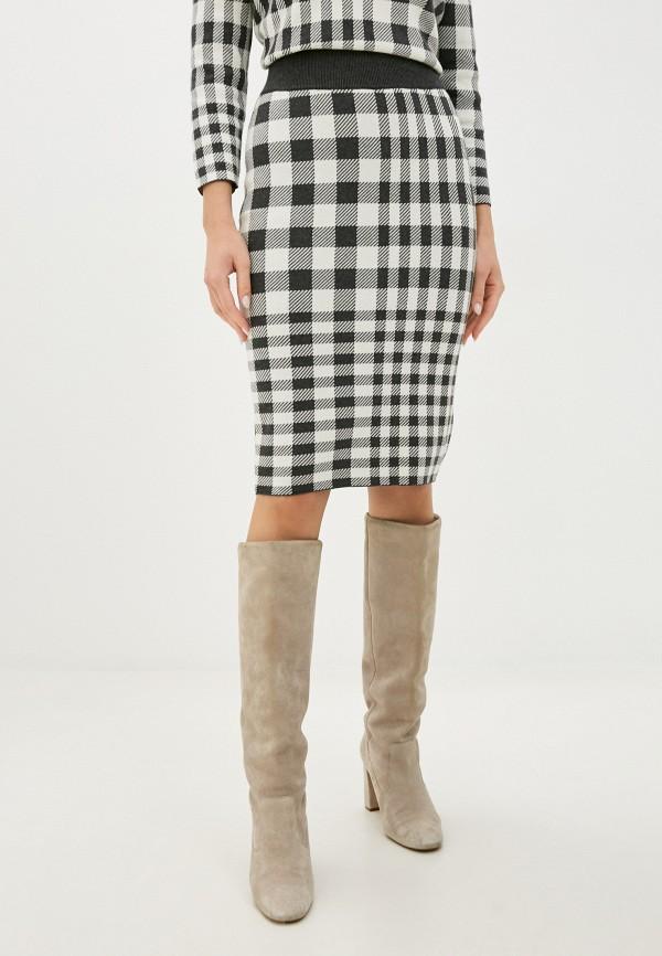 женская прямые юбка gant, разноцветная
